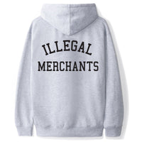 Illegal Merchants GREY Hoodie (Back)V4NY