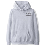 V4NY Illegal Merchants Grey Hoodie Front Streetwear