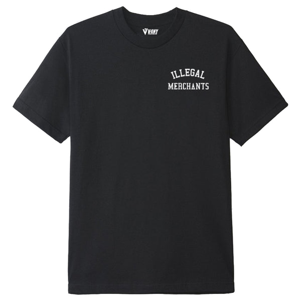 Illegal Merchants Black V4NY Tee Front