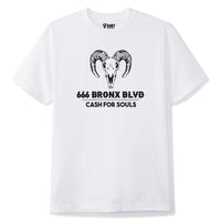 V4NY Cash For Souls White Tee Streetwear NYC
