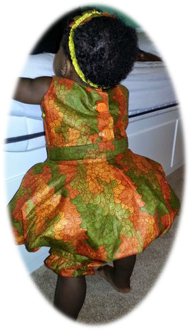 hoop dress with african wax print fabric