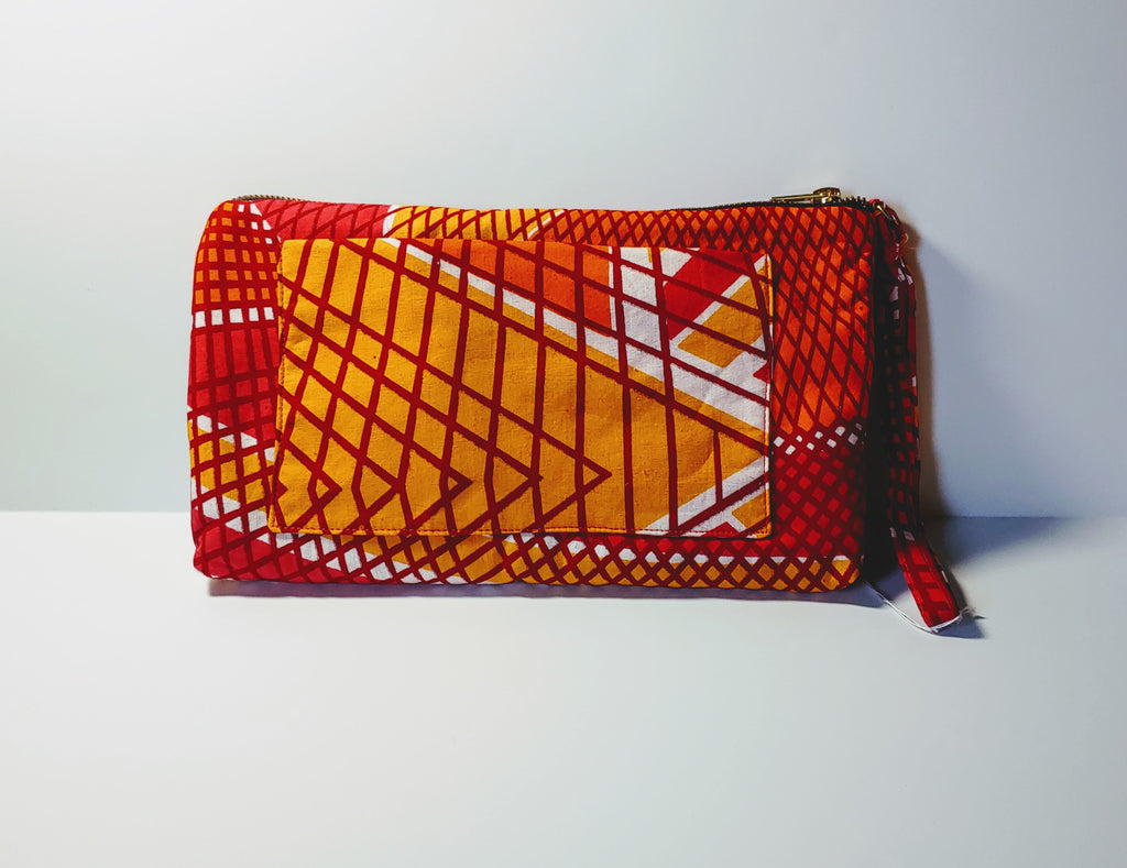 Omote (Wristlet) • Large • Orange/White