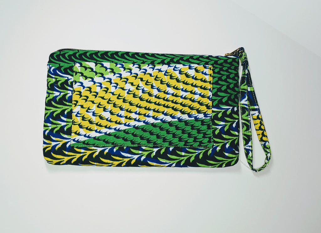 Omote (Wristlet) • Large • Yellow/Green
