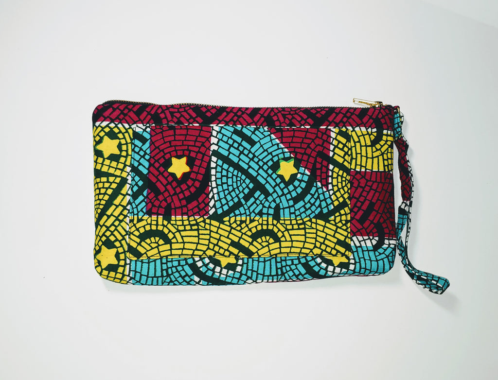 Omote (Wristlet) • Large • Yellow/Teal/Red