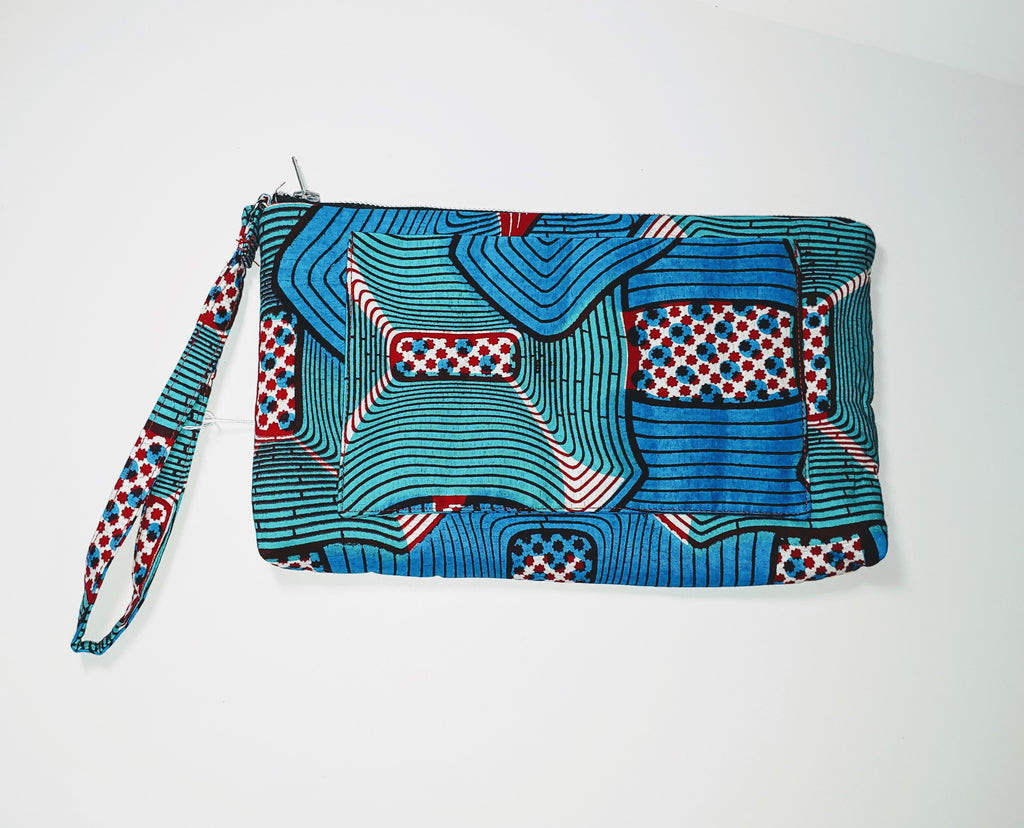 Omote (Wristlet) • Large • Blue/Teal/Red