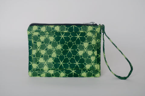 Leather Bottom Udeme (Clutch) - Green