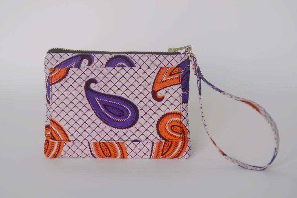 Omote (Wristlet) - Orange/Purple