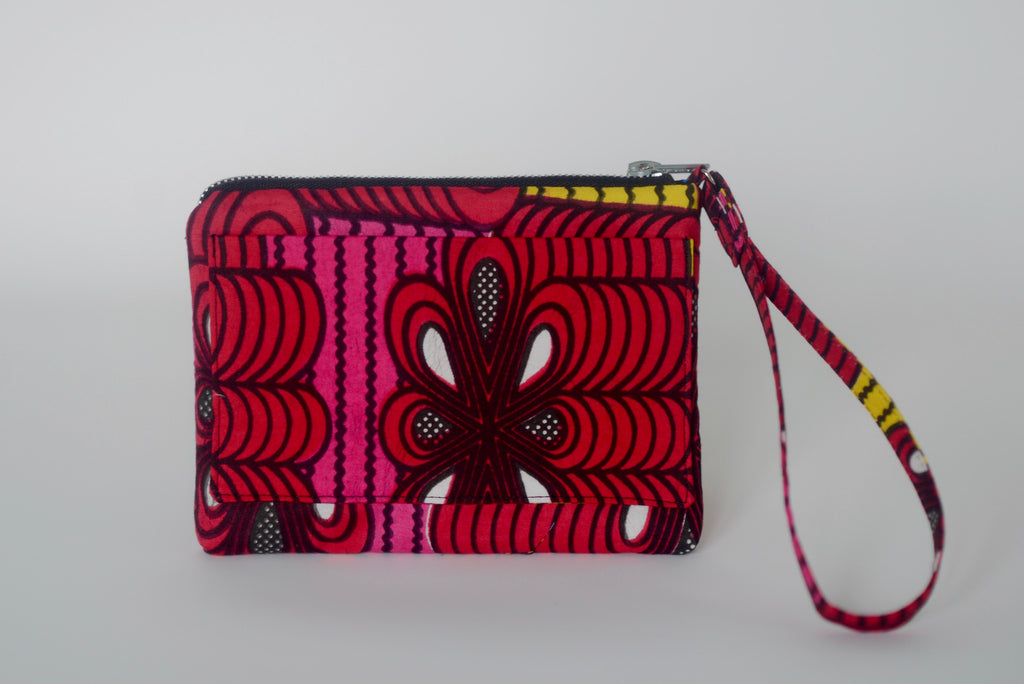 Omote (Wristlet) - Red/Pink/Yellow