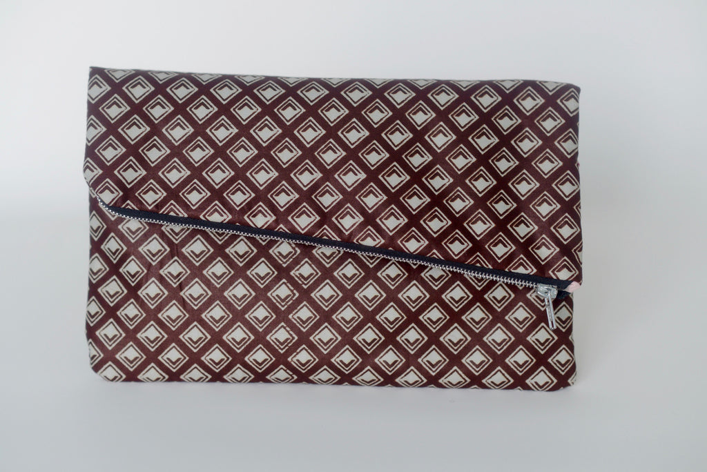 Udeme (Clutch) - Brown/Cream