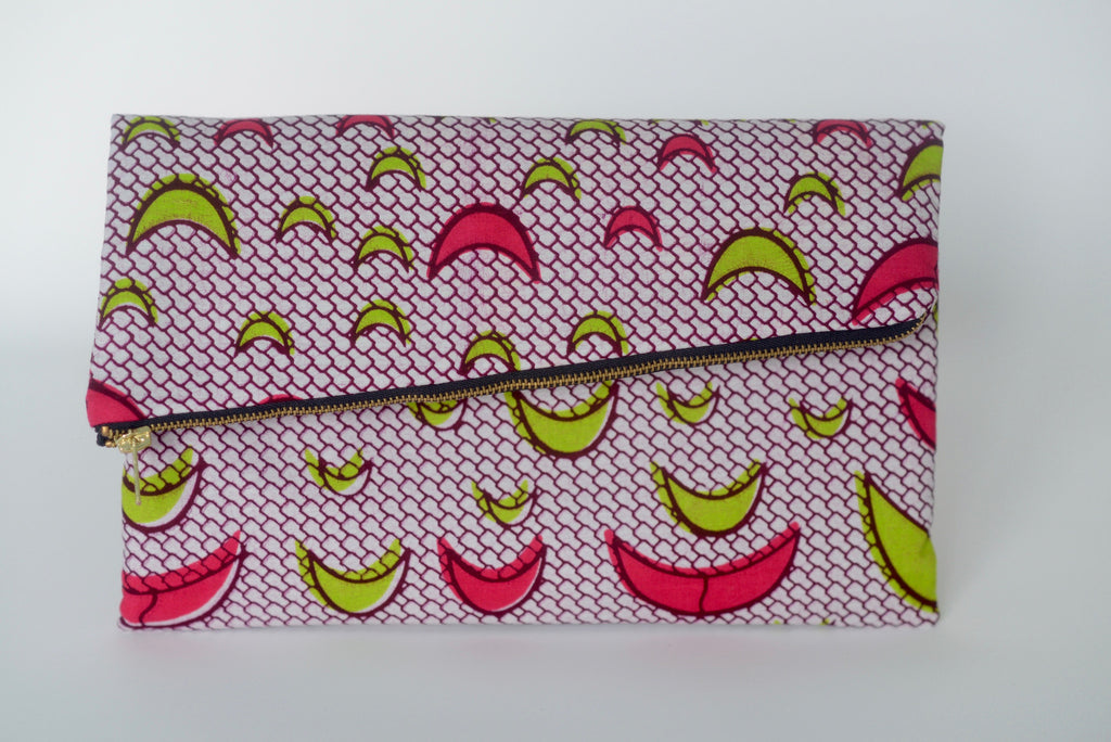 Udeme (Clutch) - Pink/Green