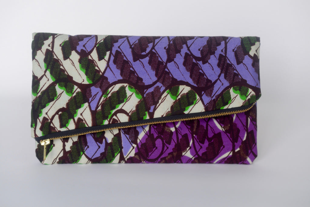 Udeme (Clutch) - Purple/Green