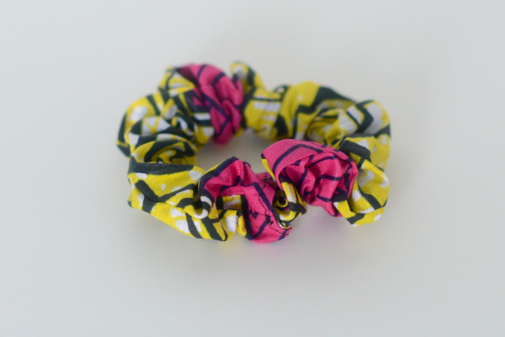 Scrunchie - Pink/Yellow