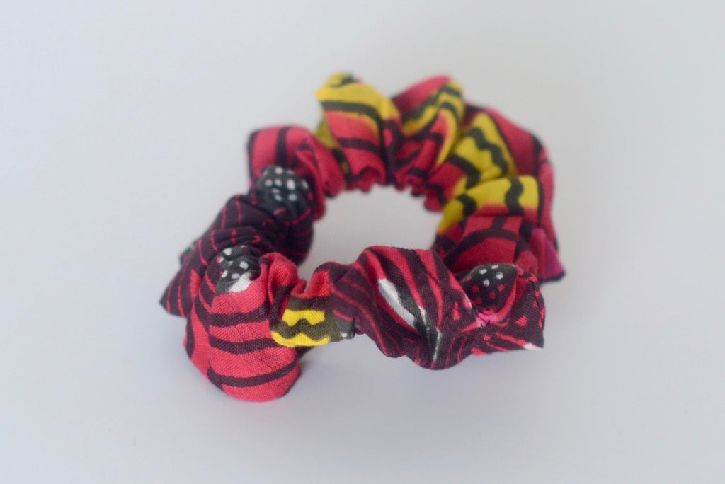Scrunchie - Red/Pink/Yellow