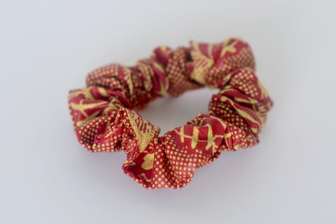 Scrunchie - Black/Orange
