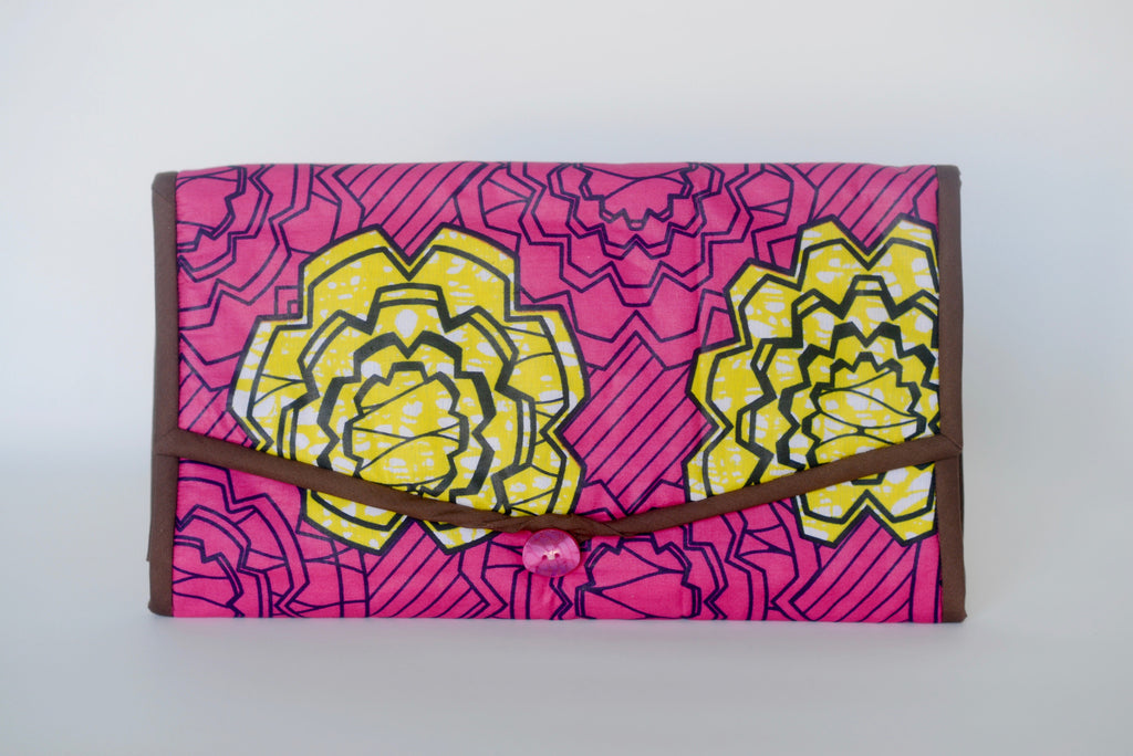 Oke Oghene (Diaper Changing Pad) - Pink/Yellow