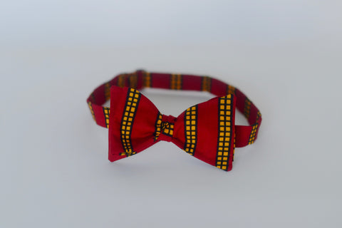 Ozae (Bow Tie) - Red/Pink/Yellow