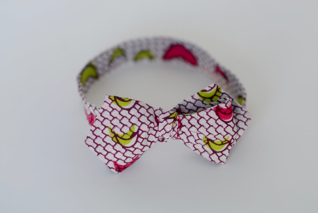 Ozae (Bow Tie) - Pink/Green
