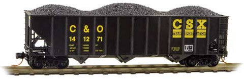 100-Ton 3-Bay Ribside Open Hopper w/Coal Load - Ready to Run (489-10800301)