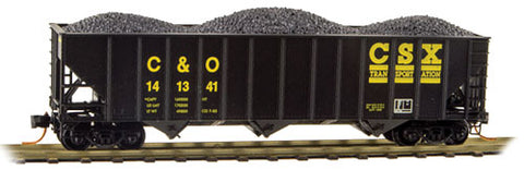 100-Ton 3-Bay Ribside Open Hopper w/Coal Load - Ready to Run  (489-10800302)