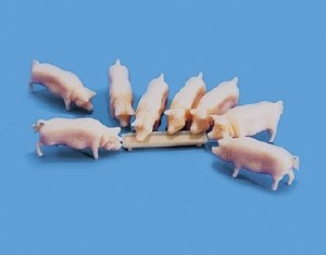 Model Scene Pigs and Troughs(5108)