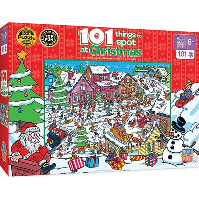 101 Things to Spot at Christmas Puzzle Train (90-119284)