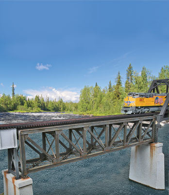 109' Single-Track Pratt Deck Truss Railroad Bridge (933-4520)