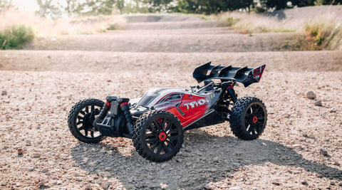Arrma 1/8 TYPHON 3S BLX 4WD Brushless Buggy with Spektrum RTR, Red (ARA102722)