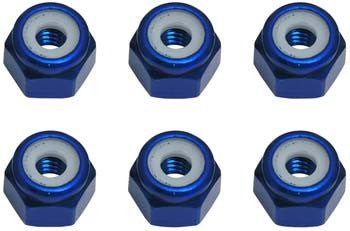 Associated 8-32 Aluminum Locknut (6) (ASC6943)