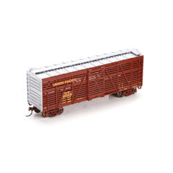 Athearn HO RTR 40' Stock Car, UP/Brown #48331D [ATH75971]