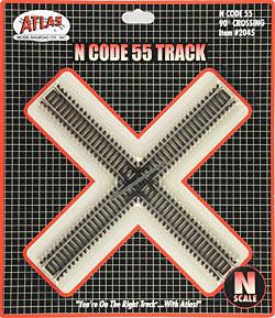 Atlas Code 55 Track 30 Degree Crossing -- N Scale  (ATL2045)