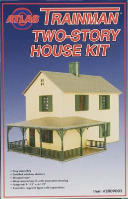 Atlas O Trainman Structure Kit Two Story House O Scale (ATO2009002)