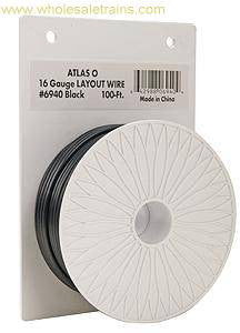 Atlas O 100' Layout Wire 16g Blk  (ATO6940)
