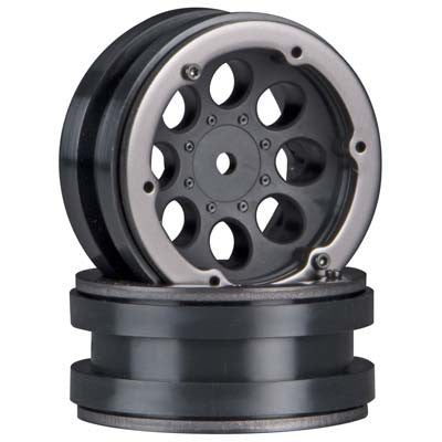"Axial 8-Hole 1.9"" Beadlock Wheel Black (2) (AX8087)"