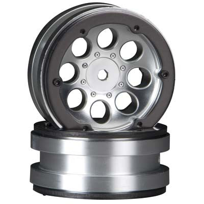 "Axial 8-Hole 1.9"" Beadlock Wheel Satin Chrome (2) (AX8088)"