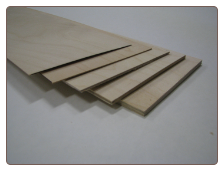 Birch 1/8 x 12 x 12 - 5 ply Birch Aircraft Plywood  (B348)