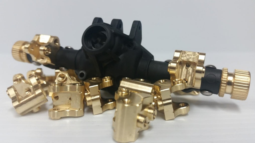 SCX10 II Lower Link/Shock Mounts - Brass (BT007LMB)