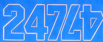 "NUMBERS BLUE 1"" (COVQ3216)"