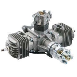 DLE-60cc Twin Gas Engine w/Elec Ign & Muffs   (DLEG0060)