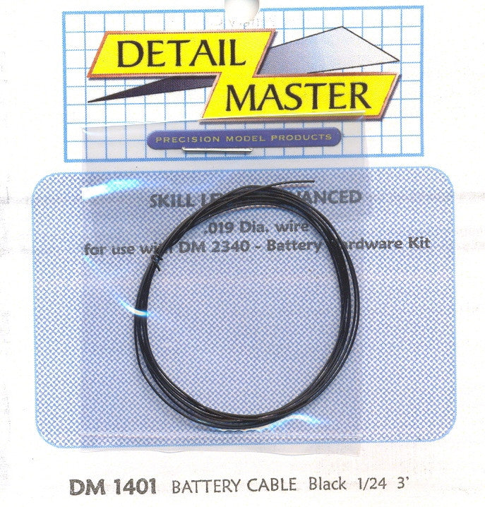 Detail Master Black Battery Cable (DTM1401)