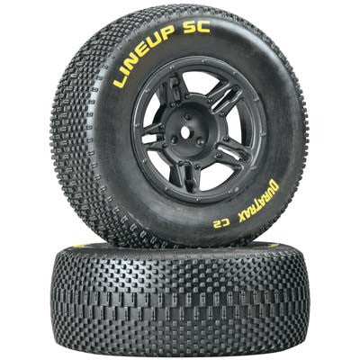 Duratrax 1/10 Lineup SC Tire C2 Mounted Rear Slash (2) (DTXC3679)