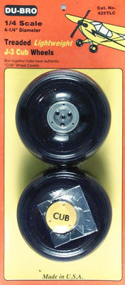 DuBro 1/4 Lightweight J-3 Cub Wheels (2) (DUB425TLC)