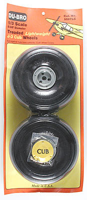 DuBro 1/3 Lightweight J-3 Cub Wheels (2) (DUB558TLC)