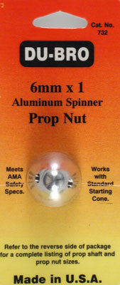 DuBro SPINNER PROP NUT 6MM (DUB732)