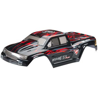 HPI Racing GT-2XS Painted Body Red/Black/Gray (HPI105274)