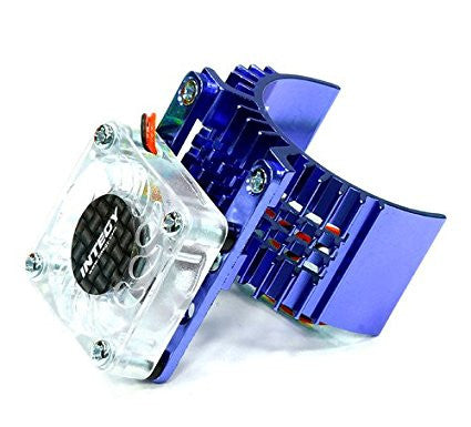 INTEGY BLUE MOTOR HEATSINK W/FAN (INTT8074BLU)