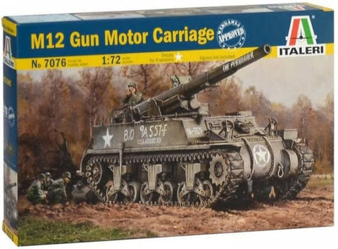 Italeri M12 GMC US Army Tank Destroyer 1/72  (ITA7076)