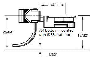 "KADEE HO Body Mounted Coupler, 1/4"" Underset (2pr) (KAD34)"