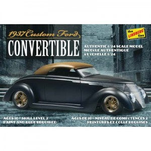 Lindberg 1/4 Scale 1937 Ford Custom Convertible  (LNDHL129)