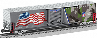 "Lionel 1943 ""Spirit of the UP"" LED Flag Boxcar  (LNL68408)"