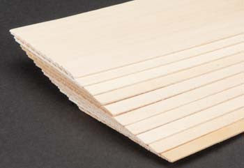 "Basswood Siding 1/16 x 1/4"" (10) (MID4451)"